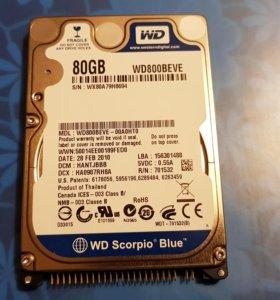 Жесткий диск WD Scorpio Blue 80 GB (WD800BEVE)