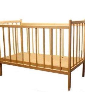 Детская кроватка+матрас+комплект постельного белья
