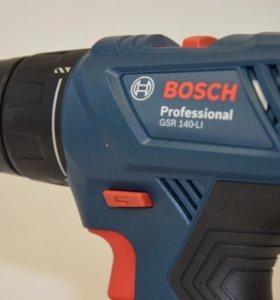 Дрель-шуруповерт Bosch GSR 140-LI + 2 акк. 1,5 Ач
