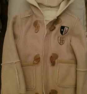 Демисезонная куртка-дубленка