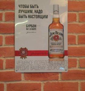 Декор ,таблички металлические ,реклама алкоголя