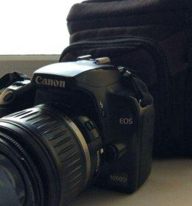 Зеркальный фотоаппарат Canon EOS 1000D Kit 18-55