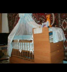 Кроватка трансформер.