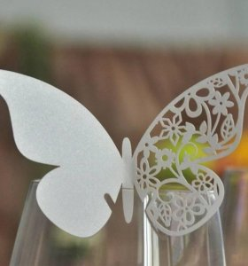 Бабочки на бокал