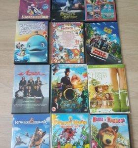 Диски DVD фильмы, мультики,музыка