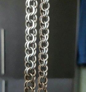 Мужской серебрянный браслет