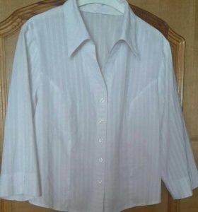Рубашка (блузка) женская белая 50-52