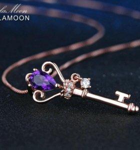Ожерелье Кулон Из Розового Золота lamoon
