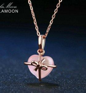 Lamoon ожерелье с натуральным камнем