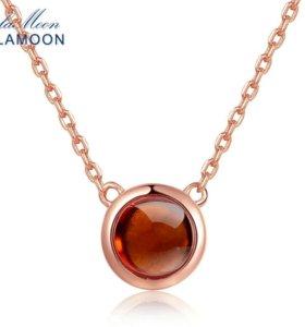 Новое Ожерелье Lamoon с натуральным Гранатом