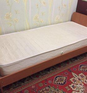 Кровать и матрас все новое!!!  самовывоз!!!