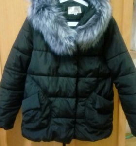 Куртка на синтепоне теплая зима холодная осень