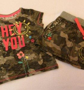 Комплект Next футболка и юбка