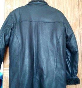 Зимняя кожанная куртка-дубленка