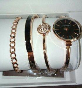 Женские часы + 3 браслета