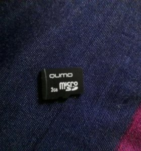 SD Флешка, на 2 гигабайта.