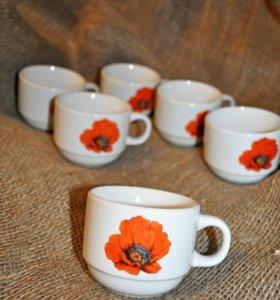 Набор чайных чашек Маки