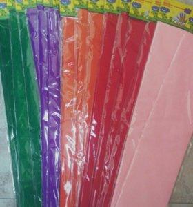 Цветная крепированная бумага для творчества 50х250