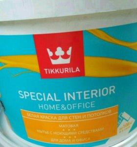 Интерьерная краска Tikkurila белая