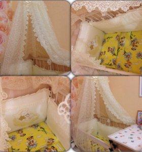 Балдахин и борта в кроватку
