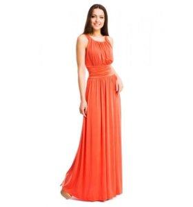 Платье кораллового цвета 44-48 размер
