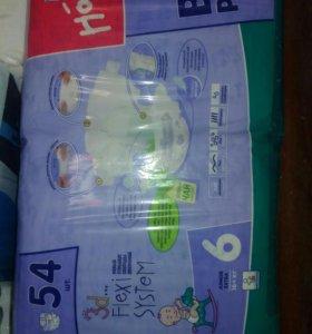 Детские подгузники памперсы 54шт