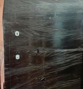 Дверь металлическая размер 2100 х 1100 правая