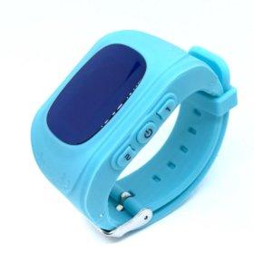 Умные часы телефон Baby Smart Watch Q50 голубые