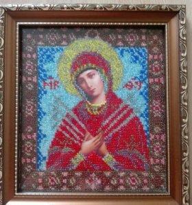 Икона в рамке под стеклом