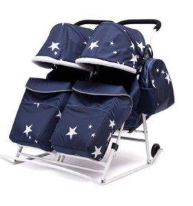 Санки коляски для двойни
