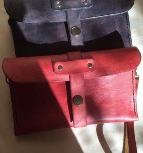 Клатч, сумка, кошелёк ручной работы кожаный