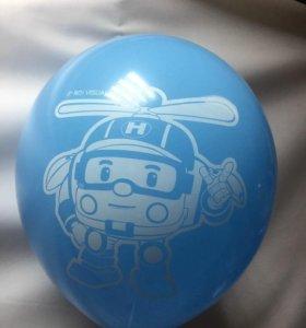 Гелиевые шары с рисунком, воздушные шарики гелевые