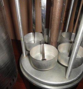 Электрошашлычница новая 5 шампуров 1000Вт