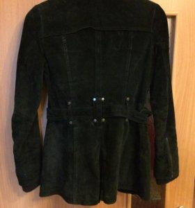 Замшевая куртка пальто