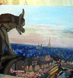 Картина маслом. Париж.