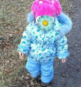 Зимний комбинезон на девочку 2-3 лет