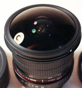 Samyang 8mm f3.5 USM fish eye CS II for canon