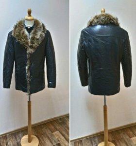 Новая куртка мужская натуральный мех енота