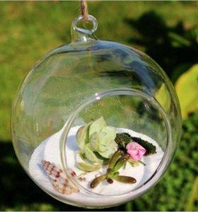 Прозрачный шар. Елочное, свадебное украшение.