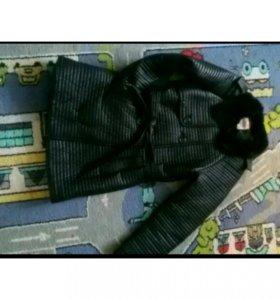 Теплое и стильное пальто для девочки
