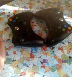Xbox 360 + kinekt+ 2 джостика и 4 игры