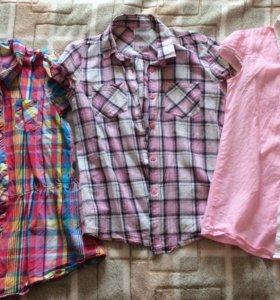 Рубашки с коротким рукавом. Рост 134-146.