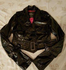 Куртка кожаная лаковая