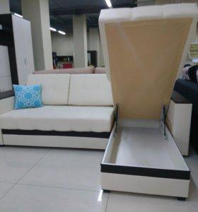 Белый атланта угловой диван