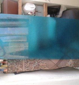 Продам органическое  рифленое стекло зеленое