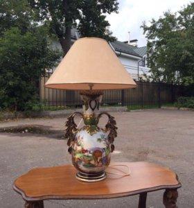 Лампа настольная старинная