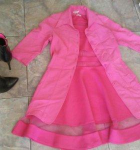 Ботильоны, платье, пиджак
