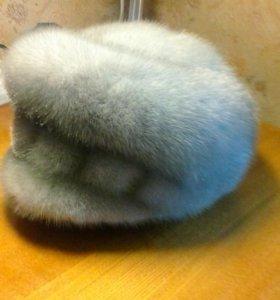 Жен.шапка новая из натур.меха голубой норки