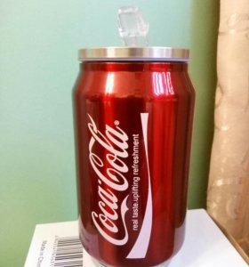 """Супер термокружка в виде банки """"Coca-Cola""""."""