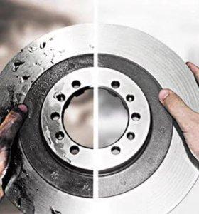 Проточках тормозных дисков